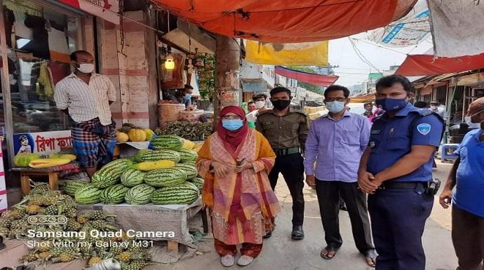 মতলব দক্ষিণে বাজার মনিটরিং, তরমুজ ব্যবসায়ীদের অর্থদন্ড