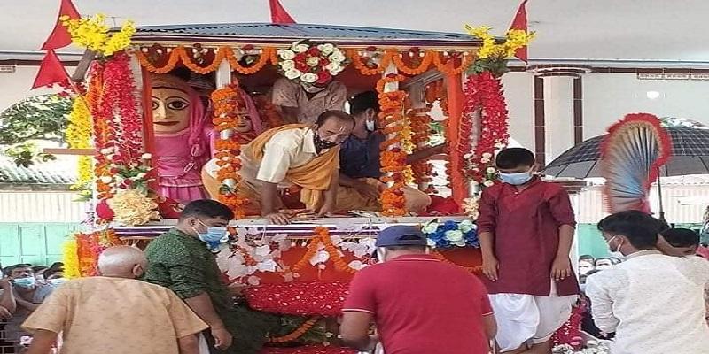 মতলব দক্ষিণে স্বল্প পরিসরে জগন্নাথ দেবের রথযাত্রা অনুষ্ঠিত